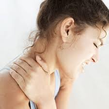 PIcture of a woman with injured neck from a car accident