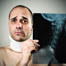Picture of Man with Neck Brace